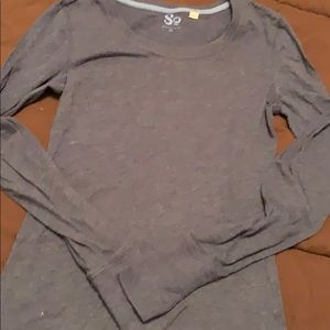 Long sleeved fitted top